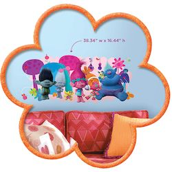 TROLLS GIANT WALL DECAL IN BLISTER PACK