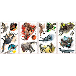 JURASSIC WORLD WALL DECALS 4 SHEETS IN BLISTER PACK